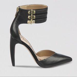 Sam Edelman Black Pointy Heel Sandals
